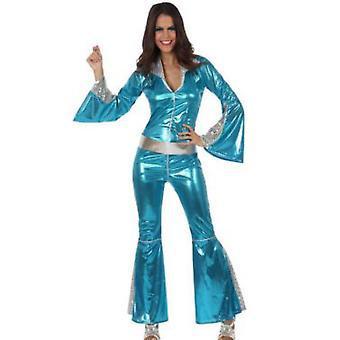 Vrouwen kostuums vrouwen Disco jumpsuit voor vrouwen blauw