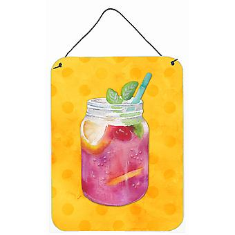 Bocal à conserves Cocktail jaune Polkadot mur ou une porte suspendue imprime