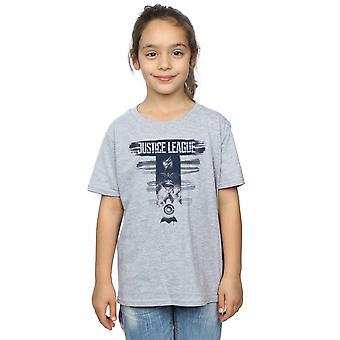 DC Comics Girls Justice League Movie Logo Badges T-Shirt