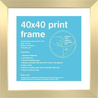 40x40cm Flat Gold Satin Frame