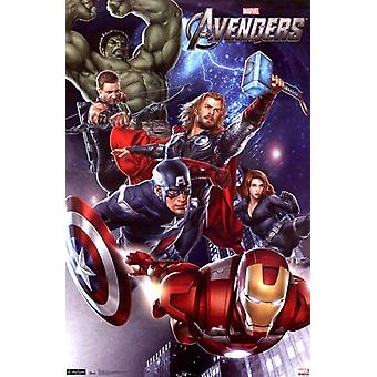 Marvel Avengers - impresión del cartel de grupo