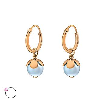 Hanging Pearl Crystal From Swarovski® - 925 Sterling Silver Earrings - W37119x