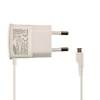 Original Samsung battery charger ETA0U10EWE power supply on MicroUSB for Galaxy S4 S3 S2 - white