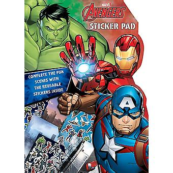 Marvel Avengers Boys Classic Comic Book Style Shaped Sticker Pad