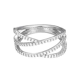 Esprit Damen Ring Silber Zirkonia Brilliance ESRG92531A1