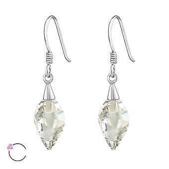 Gedraaide Drop kristal van Swarovski® - 925 Sterling zilveren oorbellen - W37364x