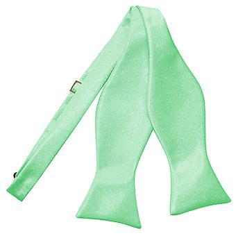 Mint Green Plain Satin Self-Tie Bow Tie