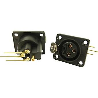 Número de pernos los pernos acantilado CP30082 XLR conector manga toma de corriente, ángulo recto: 3 negro 1 PC