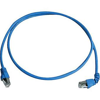 Telegärtner RJ45 Networks Cable CAT 6A S/FTP 1 m Blue Flame-retardant, Halogen-free