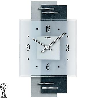 Wall clock modern wall clock parts white with aluminium mineral glass