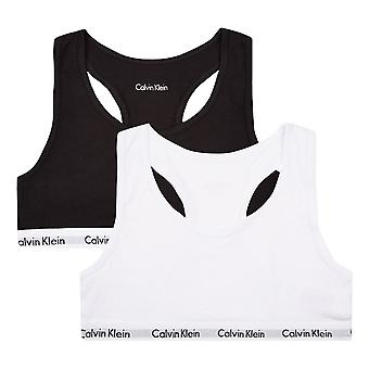 Calvin Klein Girls 2 Pack Modern Cotton Bralette White / Black
