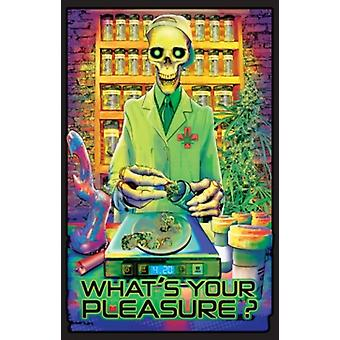 WhatS Your Pleasure Blacklight Poster Print