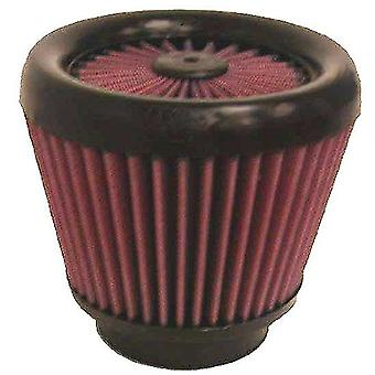 K&N RX-3900-1 Universal X-Stream Clamp-On Air Filter: Round Tapered; 3 in (76 mm) Flange ID; 4.625 in (117 mm) Height; 4
