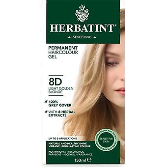 Herbatint, Light Golden Blonde Hair Col 8D, 150ml