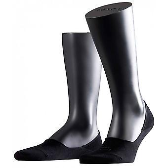 Falke-Schritt unsichtbare Socken - Schwarz