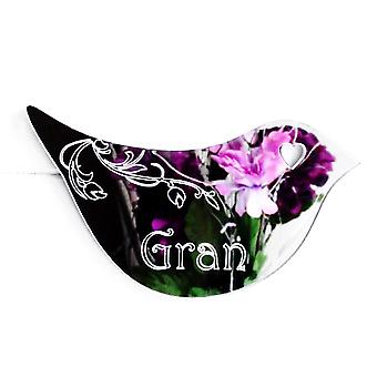 Floral Dove Acrylic Mirror Door or Wall Sign - GRAN
