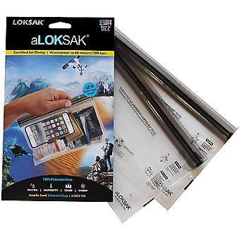 """Loksak aLoksak Resealable Waterproof TSA-Size Storage Bags (2 Pack) - 9"""" x 6"""""""