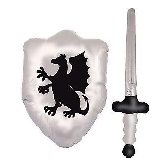 Espada e escudo inflável