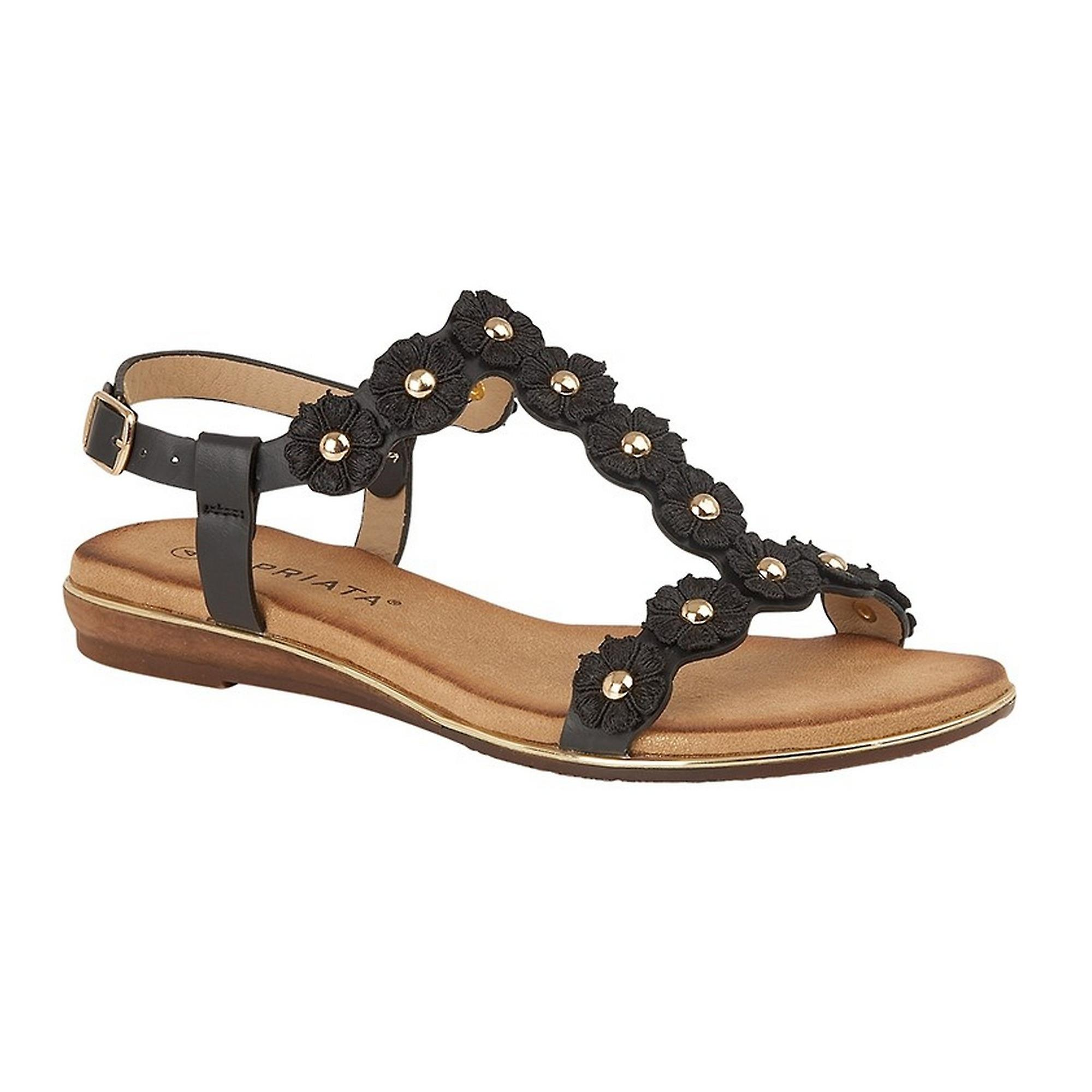 Cipriata Womens//Ladies Estella Multi Flower Textile Sandal DF1715