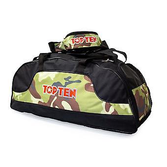 Top Ten Sportbag/Backpack Black/Camo