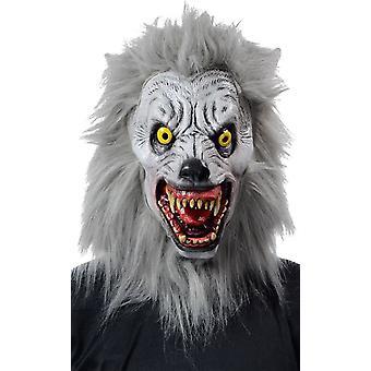Albino maska wilkołak realistyczne na Halloween