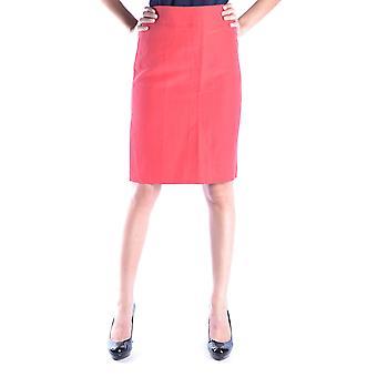 Armani Collezioni Red Linen Skirt