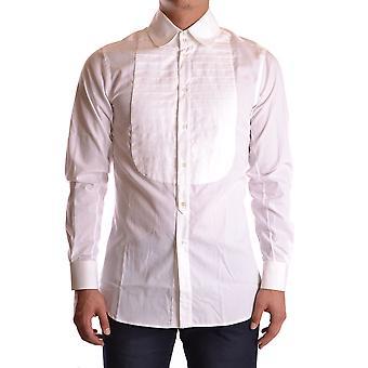 John Galliano Ezbc164043 Men's White Cotton Shirt