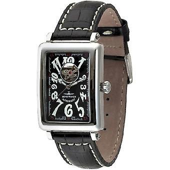 Zeno-watch mens watch square OS open heart 8099U-h1