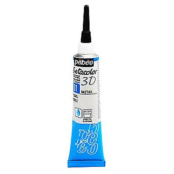 Pebeo Setacolor 3D Metal Effect Fabric Paint 20ml - 01 Pearl