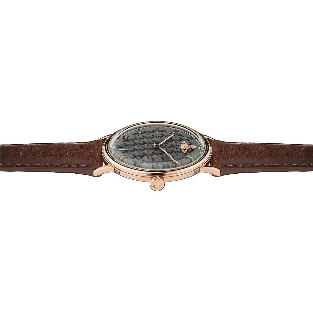 Vivienne Westwood Vv212rsbr Turnmill Rose Gold Dial And Brown Leather Strap Watch