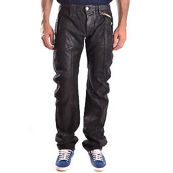 John Galliano Ezbc189007 Men's Black Denim Jeans