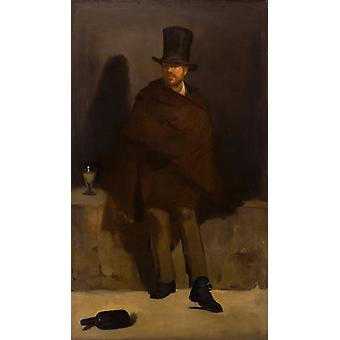 The Absinthe Drinker, Edouard Manet, 60x35cm