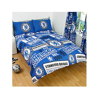 Chelsea FC Patch Double Duvet Cover and Pillowcase Set Chelsea FC Patch Double Duvet Cover and Pillowcase Set Chelsea FC