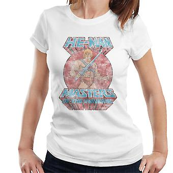 Masters Of The Universe Distressed He Man Power Sword Pose Women's T-Shirt