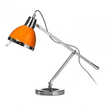 Premier hem bordslampa, krom, orange