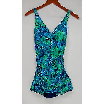 Ocean Dream Signature Maillot de bain Floral Palm X-Back Navy Blue A288821