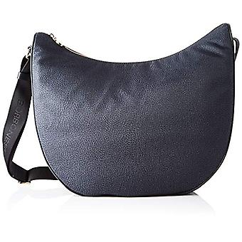 Borbonese Luna Bag Medium Women's Shoulder Bag (Black) 35x38x15 cm (W x H x L)