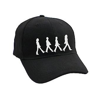 The Beatles Abbey Road chrome Silhouettes Walking Official Black Baseball Cap