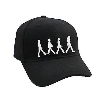 البيتلز دير الطريق الكروم الصور الظلية المشي الرسمي قبعة البيسبول السوداء