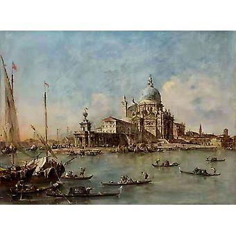 ヴェネツィア・ザ・プンタ・デッラ・ドガーナ、フランチェスコ・グアルディ、50x37cm