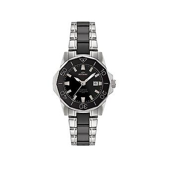 R0064/ALB00030-W-BLK Men's Rotary Watch
