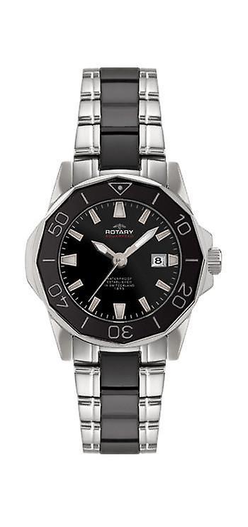 R0064/ALB00030-W-BLK Men ' s Rotary Watch