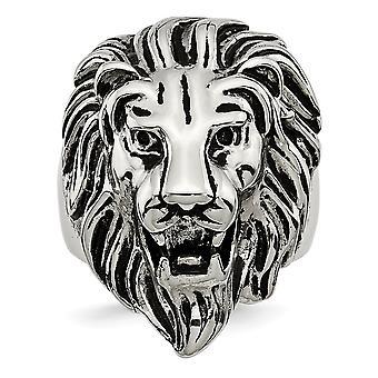 Rustfrit stål poleret og Lion Ring smykker gaver til kvinder