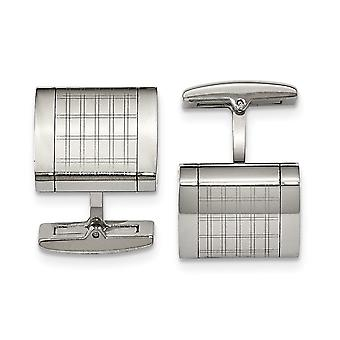 Stainless Steel Laser cut Polished Laser Design Cuff Links Jewelry Gifts for Men