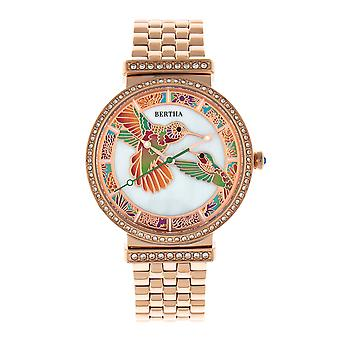 Bertha Emily Mother-Of-Pearl Bracelet Watch - Rose Gold