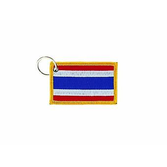 Cle Cles Key Brode Patch Ecusson Badge Thai Thai Flag