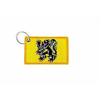 Cle Cles Clef Brode patch Ecusson badge vlag Vlaanderen België Vlaams
