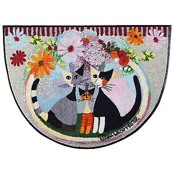 Rosina Wachtmeister Famiglia con wasbaar fiore halve ronde deurmat 60 x 85 cm