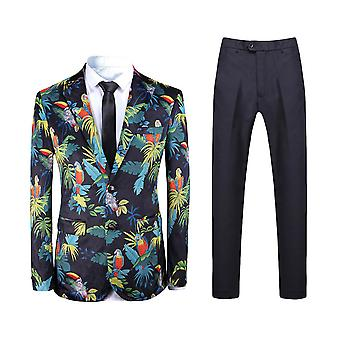Homens allthemen ' s 2-Piece ternos impressos de negócios de praia terno casual jaqueta & calças