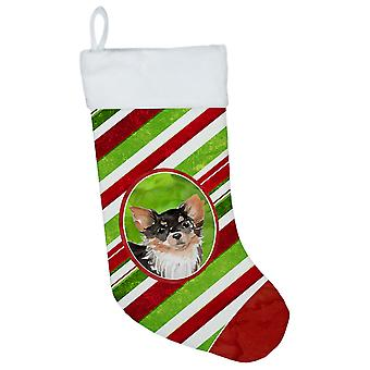 Christmas Snowflakes Long Haired Chihuahua Christmas Stocking